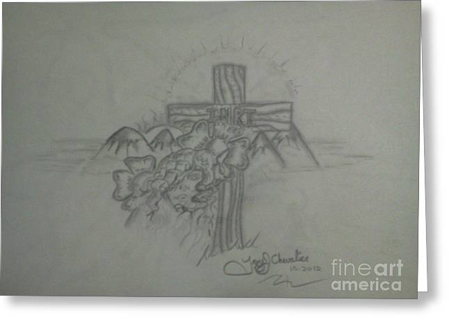 Cross Greeting Card by Troy Chevalier