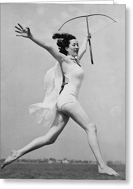Crossbow Dancer Greeting Card by Underwood Archives