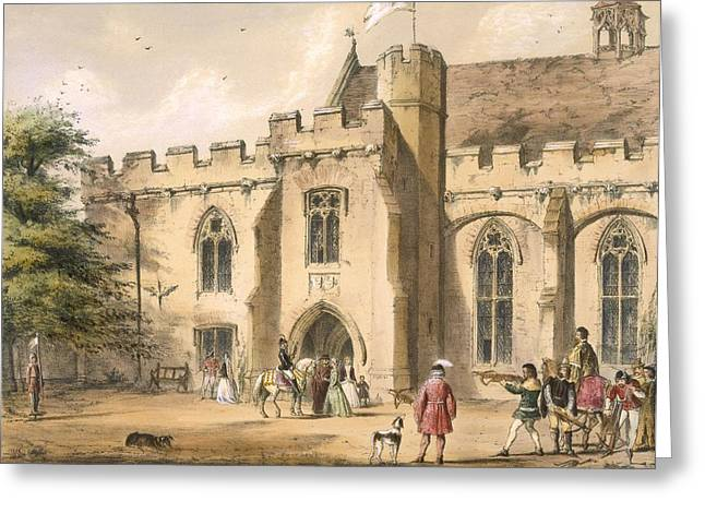 English Drawings Greeting Cards - Crossbow Practice, Penhurst Place Greeting Card by Joseph Nash