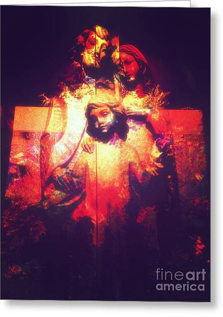 Saint Joseph Digital Greeting Cards - Crossed Greeting Card by Davy Cheng