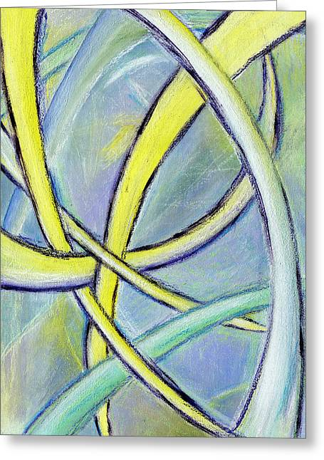 Crossed Paths Greeting Card by Karyn Robinson