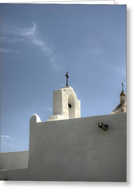 Goliad Texas Greeting Cards - Crosses of Espirtu Santo Color Greeting Card by Joshua House