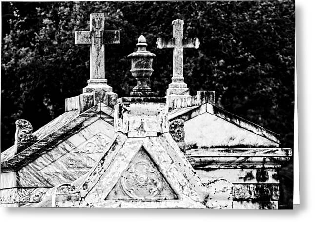 Metairie Cemetery Greeting Cards - Crosses of Metairie Cemetery Greeting Card by Andy Crawford