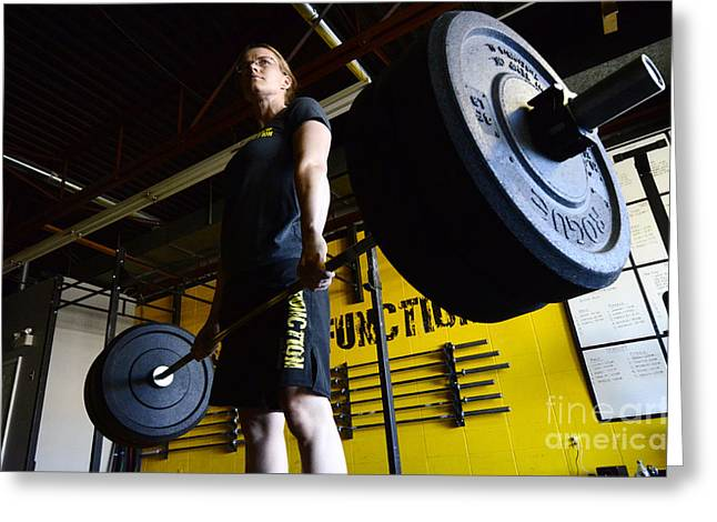 Photos Fitness Greeting Cards - CrossFit 2 Greeting Card by Bob Christopher