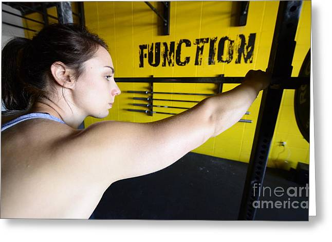 Photos Fitness Greeting Cards - CrossFit 4 Greeting Card by Bob Christopher