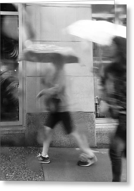 Rain Drop Greeting Cards - Crossing Affairs Greeting Card by Jerry Cordeiro