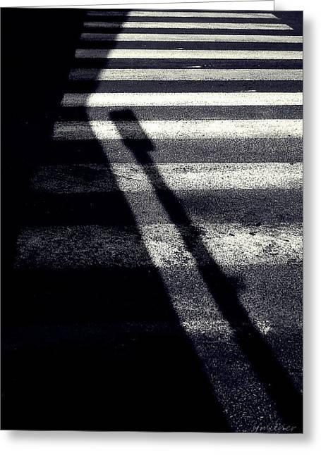 Abstract Expression Photographs Greeting Cards - Crossing Guard Greeting Card by Steven Milner