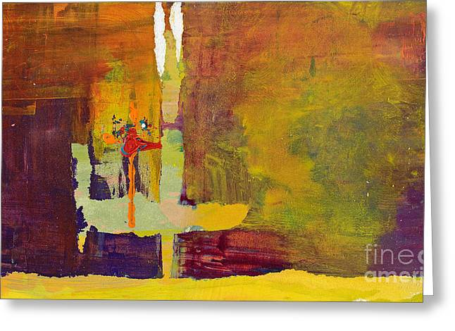 Crossing Over Greeting Card by Pat Saunders-White