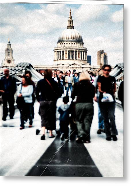 Artography Greeting Cards - Crossing Over The Thames Greeting Card by Mark Tisdale
