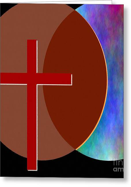 Yeshua Greeting Cards - Crossing Paths Greeting Card by Glenn McCarthy Art and Photography
