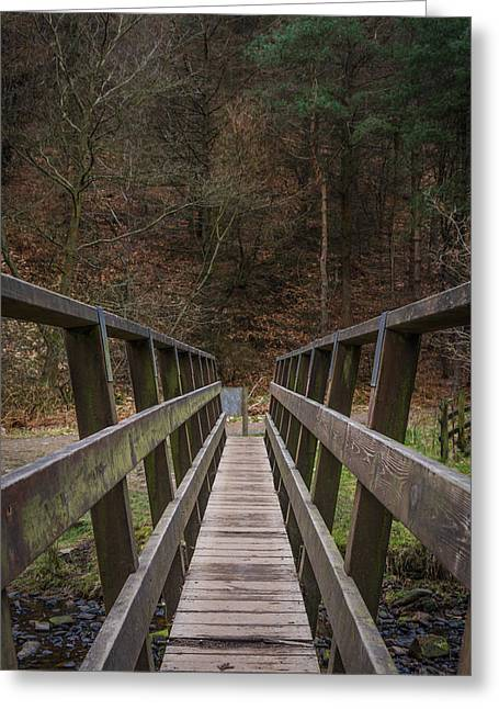Hiking Greeting Cards - Crossing The Bridge. Greeting Card by Daniel Kay