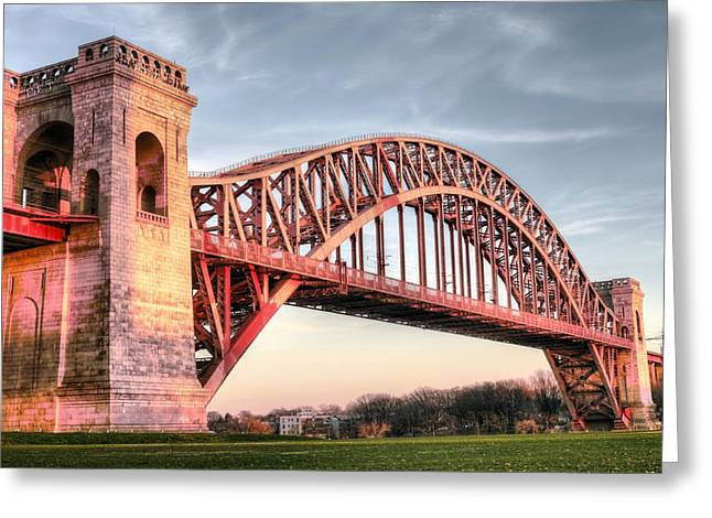 Harlem River Greeting Cards - Crossing the East River Greeting Card by JC Findley