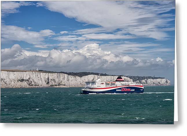 France Greeting Cards - Crossing the English Channel Greeting Card by Tim Stanley