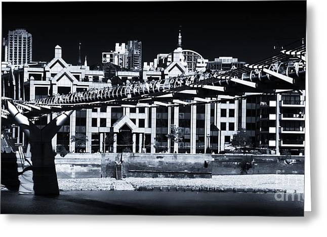 Lack And White Greeting Cards - Crossing the Millennium Greeting Card by John Rizzuto