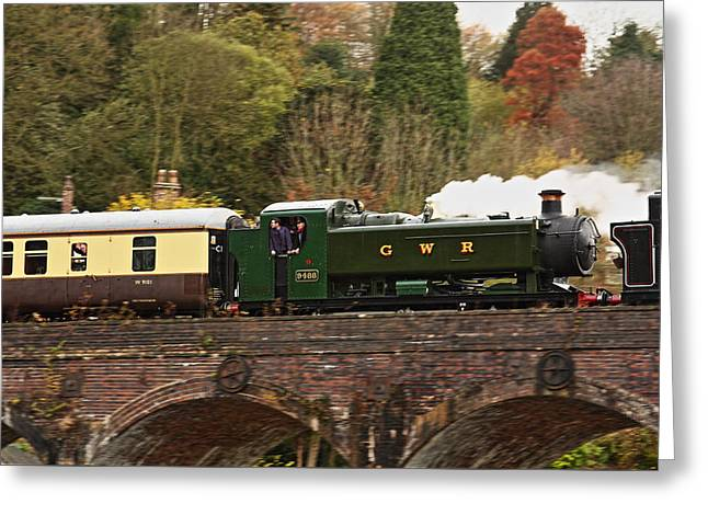 Coalbrookdale Greeting Cards - Crossing the Viaduct Greeting Card by Paul Williams