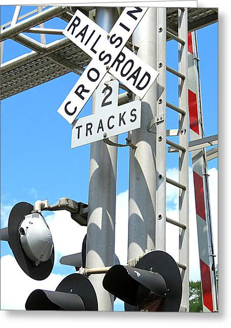 Train Crossing Greeting Cards - Crossing Greeting Card by Tonya Cribbs