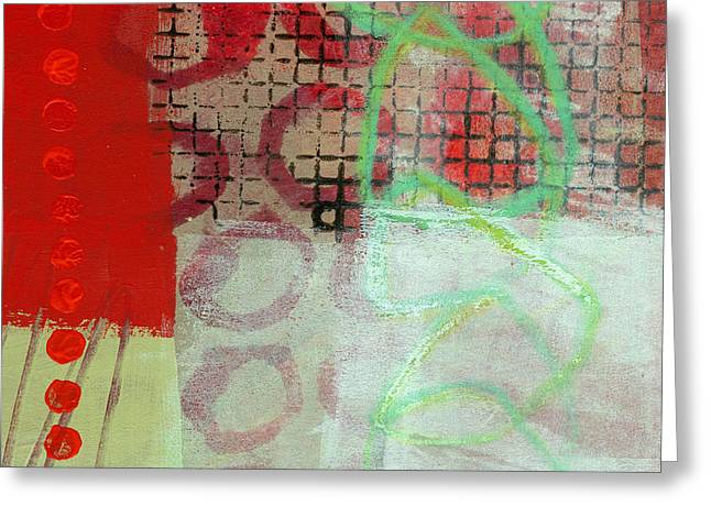 Abstract Grid Greeting Cards - Crossroads 30 Greeting Card by Jane Davies
