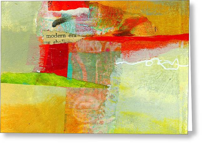 Abstract Glass Greeting Cards - Crossroads 55 Greeting Card by Jane Davies