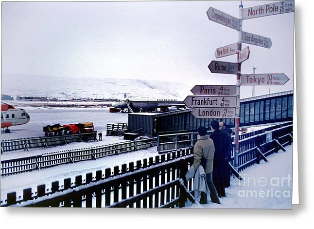Star Alliance Airline Photographs Greeting Cards - Crossroads in Iceland Greeting Card by Wernher Krutein