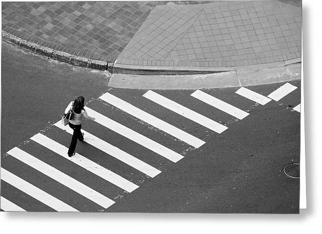 Crosswalk Greeting Cards - Crosswalk Greeting Card by Jim Nelson