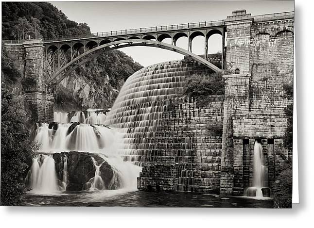 Old And New Greeting Cards - Croton Dam Greeting Card by Bill  Wakeley