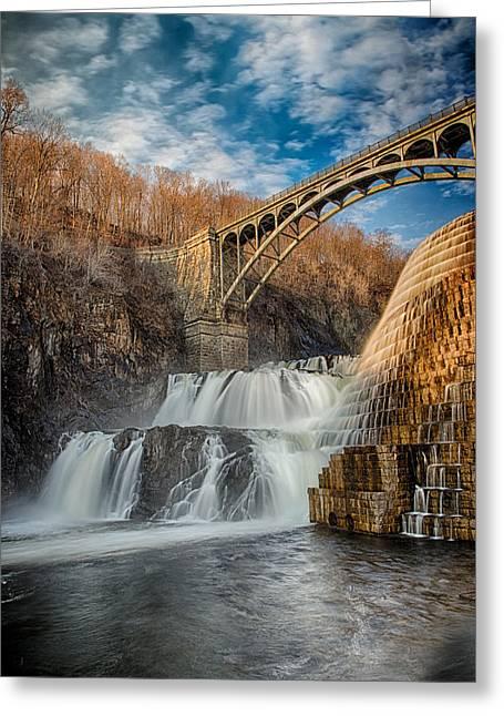 Emmanouil Klimis Greeting Cards - Croton Falls Bridge View Greeting Card by Emmanouil Klimis