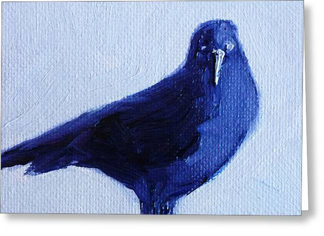 Rook Greeting Cards - Crow #2 Greeting Card by Nancy Merkle