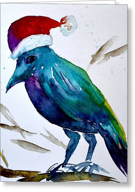Nederland Paintings Greeting Cards - Crow Ho Ho Greeting Card by Beverley Harper Tinsley