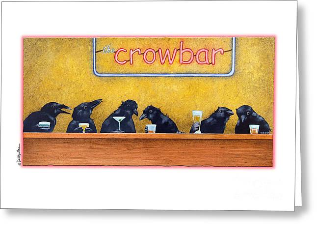 Crows Greeting Cards Greeting Cards - Crowbar Greeting Card by Will Bullas