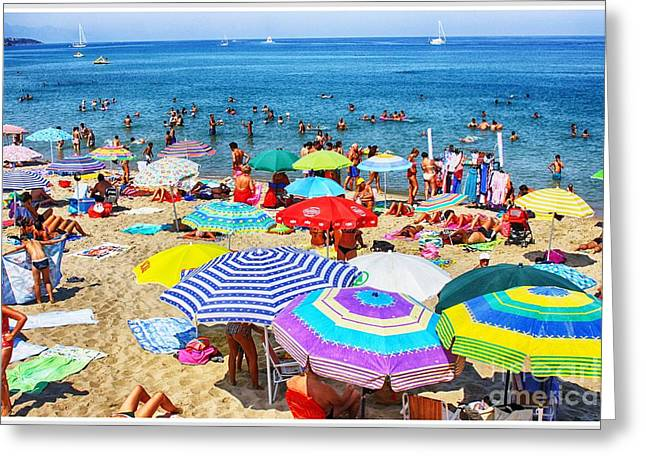 Crowded Beach  Greeting Card by Stefano Senise
