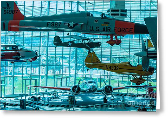 Lockheed Electra Greeting Cards - Crowded Skies Greeting Card by Rich Priest