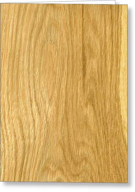 Veneer Greeting Cards - Crown Cut Oak Veneer Greeting Card by Hakon Soreide