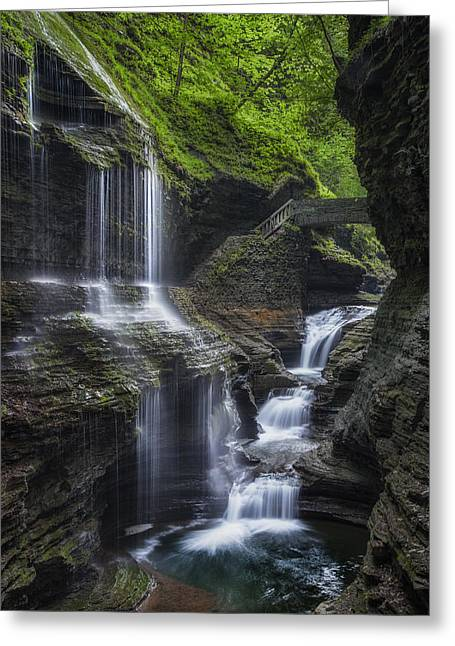 Ethereal Waterfalls Greeting Cards - Crown Jewel Greeting Card by Bill  Wakeley