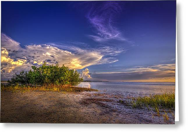 Ocean Scape Greeting Cards - Crown of Clouds Greeting Card by Marvin Spates