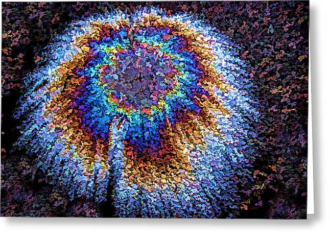 Asphalt Nebula Greeting Cards - Crown of Creation II Greeting Card by Samuel Sheats