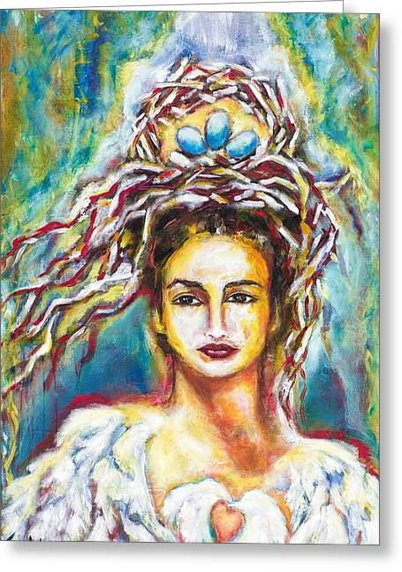 Empowerment Greeting Cards - Crown of Life Greeting Card by Flora Aube