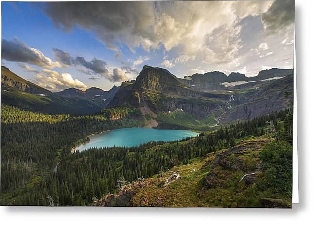 Many Glacier Greeting Cards - Crown of the Continent Greeting Card by Joseph Rossbach