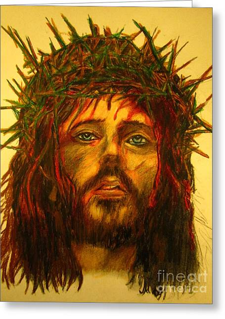 Orthodox Drawings Greeting Cards - Crown of Thorns Greeting Card by John Malone