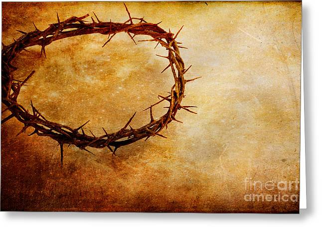 Jesus Christ Icon Greeting Cards - Crown of Thorns Greeting Card by Stephanie Frey