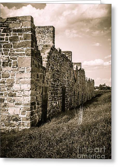 Crown Point New York Old British Fort Ruin Greeting Card by Edward Fielding
