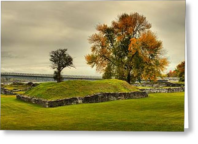 Concrete Bridge Greeting Cards - Crown Point Panorama Of The New Lake Champlain Bridge Greeting Card by Adam Jewell