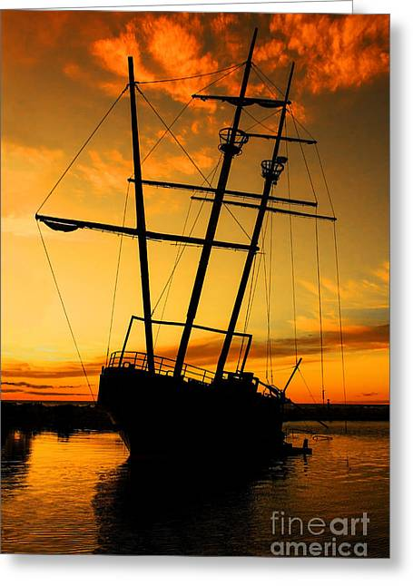 Pirates Greeting Cards - Crows Nest  Greeting Card by Barbara McMahon