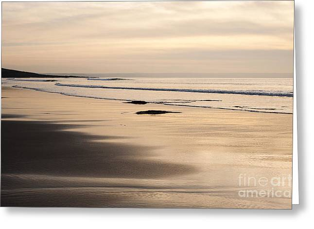 Croyde Greeting Cards - Croyde at Dusk Greeting Card by Anne Gilbert