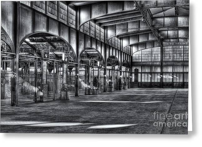 Empty Inside Greeting Cards - CRRNJ Terminal VI Greeting Card by Clarence Holmes