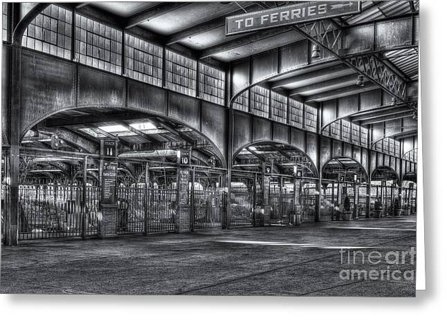 Empty Inside Greeting Cards - CRRNJ Terminal VII Greeting Card by Clarence Holmes