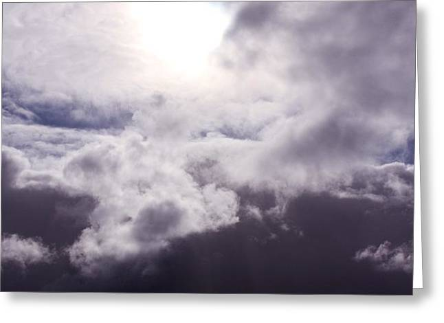 Sun Breaking Through Clouds Photographs Greeting Cards - Crucible Greeting Card by Amanda Lee Tzafrir