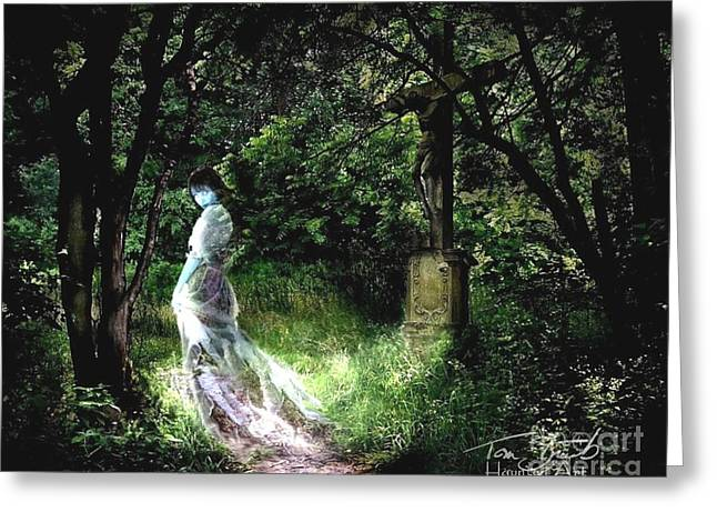 Paranormal Digital Greeting Cards - Crucifix Greeting Card by Tom Straub
