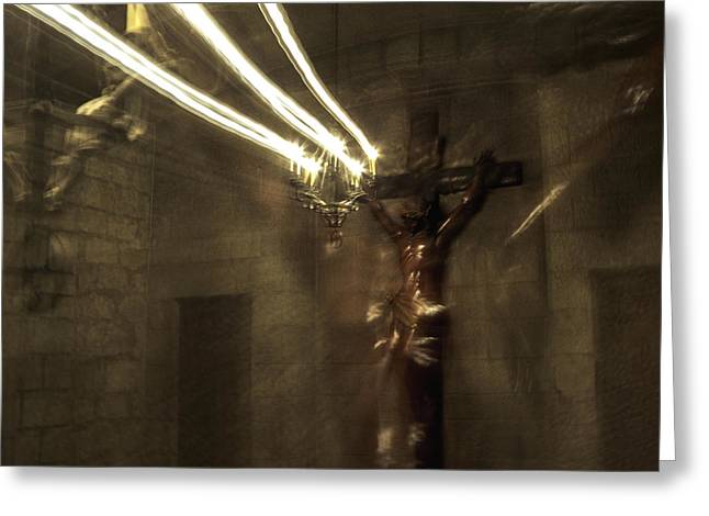 Photohraphy Greeting Cards - Crucifixion Greeting Card by Alexandre Russevitch