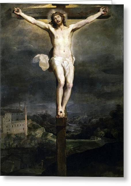 Crucifixion Greeting Card by Federico Barocci
