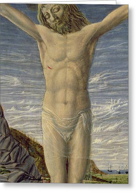 Wounded Greeting Cards - Crucifixion  Greeting Card by Master of the Barberini Panels